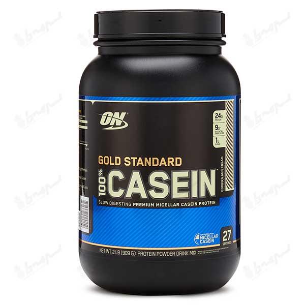 کازئین گلد استاندارد 100% اپتیموم نوتریشن | 908 گرم | بیسکویت کرمدار