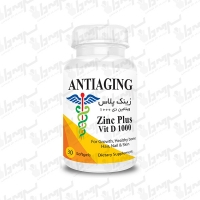 سافت ژل زینک پلاس و ویتامین دی 1000 آنتی ایجینگ 30 عددی