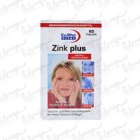 کپسول زینک پلاس با ویتامین ب کمپلکس یورو ویتال | 60 عدد
