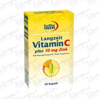 کپسول ویتامین C و زینک پلاس 10 میلی گرم یورو ویتال | 60 عدد