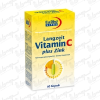 کپسول ویتامین C و زینک پلاس یورو ویتال | 60 عدد