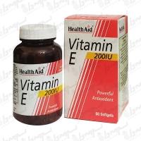 کپسول ژلاتینی ویتامین ای 200 هلث اید | 60 عدد
