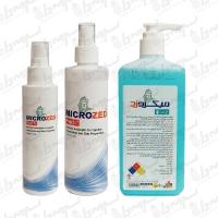 محلول ضد عفونی کننده الکلی دست همراه با مواد نرم کننده میکروزد