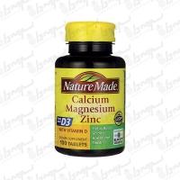 قرص کلسیم منیزیم زینک+ویتامین D3 نیچر مید | 100 عددی