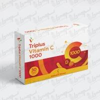 قرص تری پلاس ویتامین سی 1000 میلی گرم ویتامین هاوس | 30 عدد