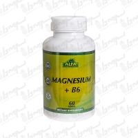 قرص منیزیم و ویتامین B6 آلفا | 60 عدد