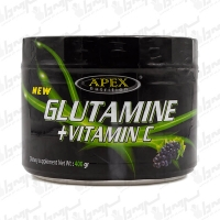 پودر گلوتامین با ویتامین سی اپکس | 400 گرمی | 80 سروینگ