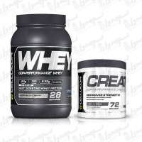 پکیج ورزشی سلوکور | پروتئین وی 900 گرمی | کراتین مونوهیدرات 360 گرمی