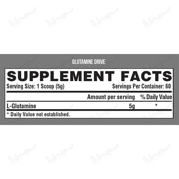 پودر گلوتامین درایو نوترکس | 300 گرم