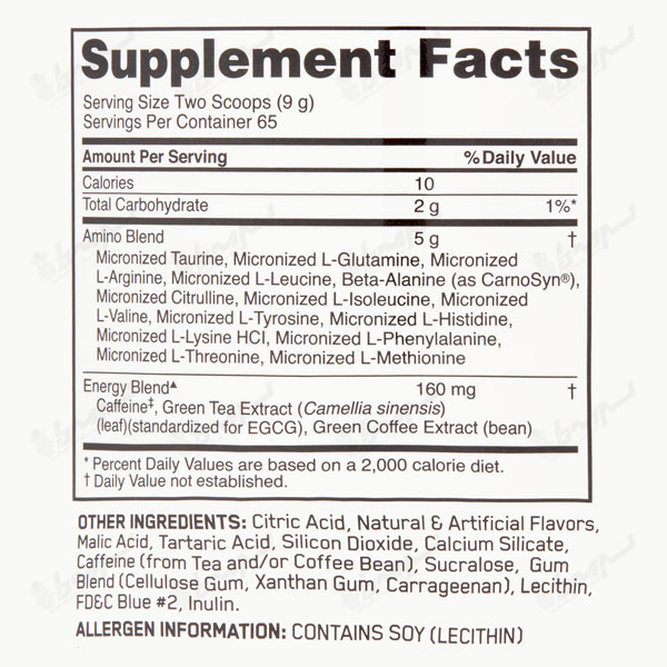 پودر آمینو انرژی اپتیموم نوتریشن | 585 گرم | انرژی زا