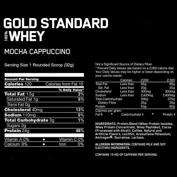 پروتئین وی گلد استاندارد 100% اپتیموم نوتریشن | 4.54 کیلوگرم